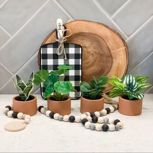 Faux Potted Plant Set of 4
